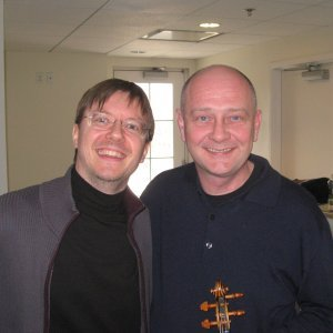 Konserttimestari Preucilin kanssa.