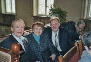 Eero Tarasti, Irena Poniatowska, Maciej Jablonski ja Konstantin Zenkin Varsovan Chopin-kongressissa