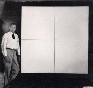 Robert Rauschenberg ja yksi valkoisista maalauksista.