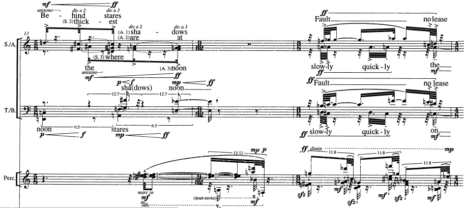 Ferneyhough: The Doctrine of Similarity (näyte kuoron osuudesta)