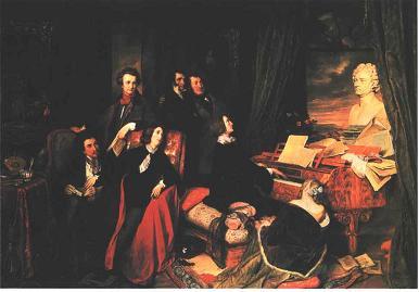 Josef Danhauser: Franz Liszt, am Flügel phantasierend
