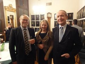 Hartmut Krones, Eila ja Eero Tarasti Musikvereinissa 13.11.2012