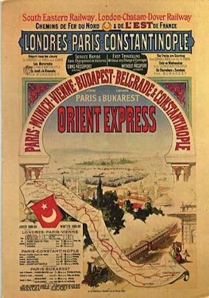 Idän pikajunan mainosjuliste talvikaudelle 1888–89