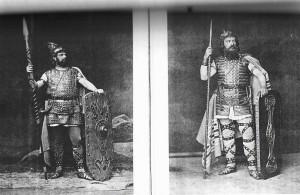 Alkuperäisiä Ring-hahmoja Bayreuthista v. 1876.