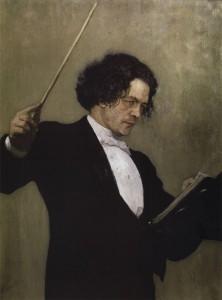Ilja Repinin maalaus Anton Rubinsteinista vuodelta 1887
