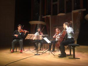 St. Lawrence -kvartetti ja John Adamsin toinen jousikvartetto. Kuva © Jari Kallio