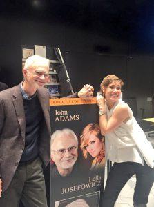 Dynaaminen duo: John Adams ja Leila Josefowicz. Kuva © Jari Kallio