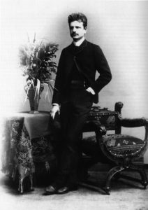 Sibelius Berliinissä 1889 (kirjan kuvitusta).