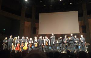 Matthias Pintscher ja neljäkymmentävuotias Ensemble InterContemporain Pariisin Cité de ka Musiquessa perjantaina. Kuva © Jari Kallio.