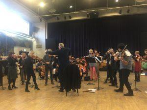 Orchestre Révolutionnaire et Romantique ja Sir John Eliot Gardiner Schubertin Kuolema ja neito -kvarteton parissa. Kuva © Jari Kallio.
