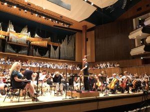 Gurreliederin harjoitukset Royal Festival Hallissa torstaina. Kuva © Jari Kallio.