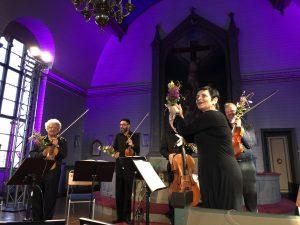 Musiikin ajan säveltäjävieras Chaya Czernowin ja Arditti-kvartetti Viitasaarella perjantaina. Kuva © Jari Kallio.