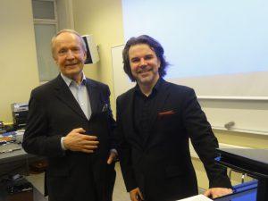 Eero Tarasti ja Janne Mertanen (oik.)