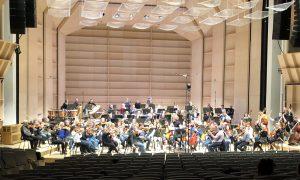 Arnold Schönbergin Brahms-sovituksen harjoitukset Tampere-talossa perjantaina. Kuva: Jari Kallio