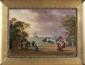 Kaarle-kuninkaan metsästyksen loppukohtaus (Magnus von Wrightin öljymaalaus)