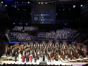 Arnold Schönbergin valtaisa Gurrelieder Musiikkitalossa perjantaina. Kuva: Jari Kallio