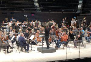 Brucknerin kuudennen sinfonian harjoituksen Musiikkkitalossa torstaina. Kuva: Jari Kallio