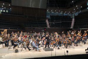 Brucnerin yhdeksännen sinfonian harjoitukset Musiikkitalossa. Kuva: Jari Kallio