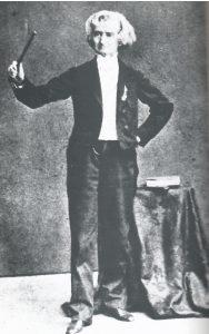 Berlioz johtaa  Faustia Pietarissa , 1867