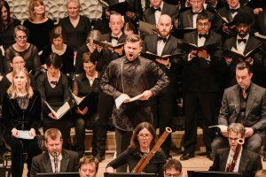 Beethovenin oratorion solistit Elsa dresig, PavolBerslik ja David Soar. Kuva: Daniel Dittus
