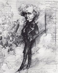 A chacun sa gloire, Berlioz notre admiration... piirustus ja alvarelli G. Tiret-Bognet, päiväämätön.