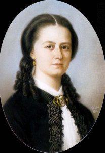 Laura Netzel. Maria Röhlin maalaus vuodelta 1863. Lähde: Wikipedia.