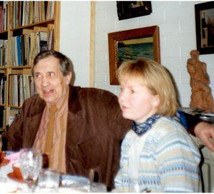 Einojuhani ja Sini Rautavaara Auringontalon säveltämisen aikoihin.